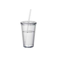 Cyclone tumbler and straw