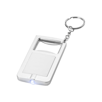 Orcus LED keychain light and bottle opener