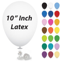 10 Inch Latex Balloons with Helium Valve – HeliValve