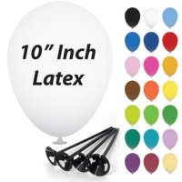 10 Inch Latex Balloons with Cups and Sticks