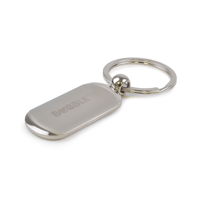 Accra Oval Metal Keyring