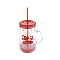 Double Walled Plastic Jar With Handle