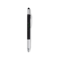 Spirit level pen with ruler