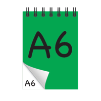 A6 Desk-Mate® with Wire Bound Cover