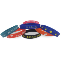 Single Colour Wristband - Debossed/Sunken with Colour Fill In