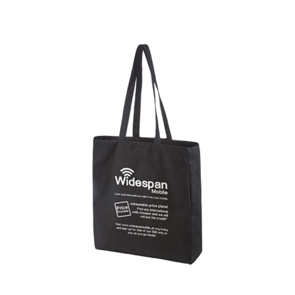 Black Premium Canvas Shopper
