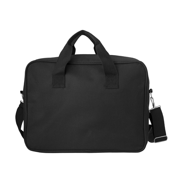 Polyester laptop bag.