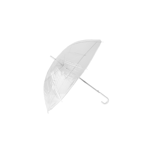 Transparent umbrella.
