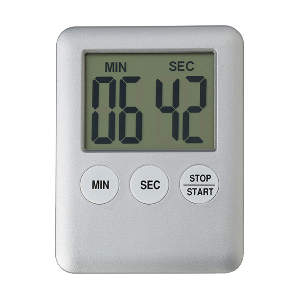 Plastic digital kitchen timer.