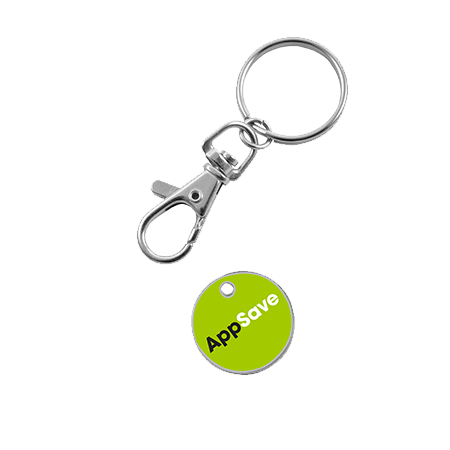Branded Trolley Coin Keyrings - A Helpful Promotional Gift