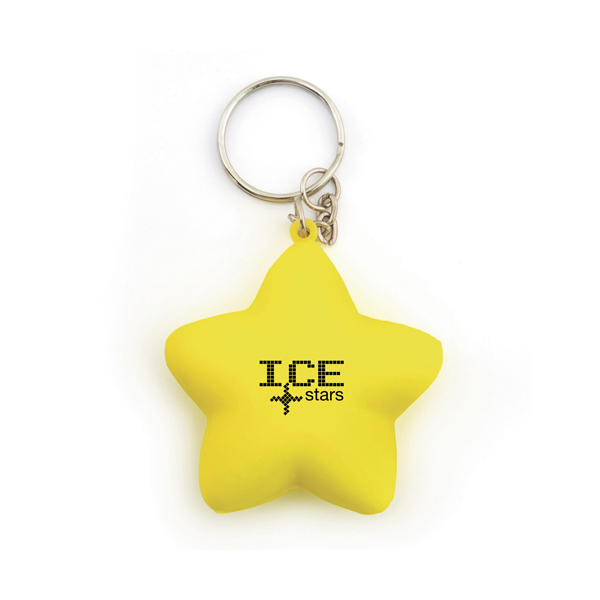 Custom Printed Star Stress Keyrings