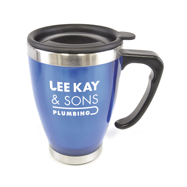 Personalised Narrow Tea Cup Shaped Double Walled Travel Mugs