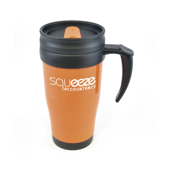 Custom Polo Plus Double Walled Travel Mugs