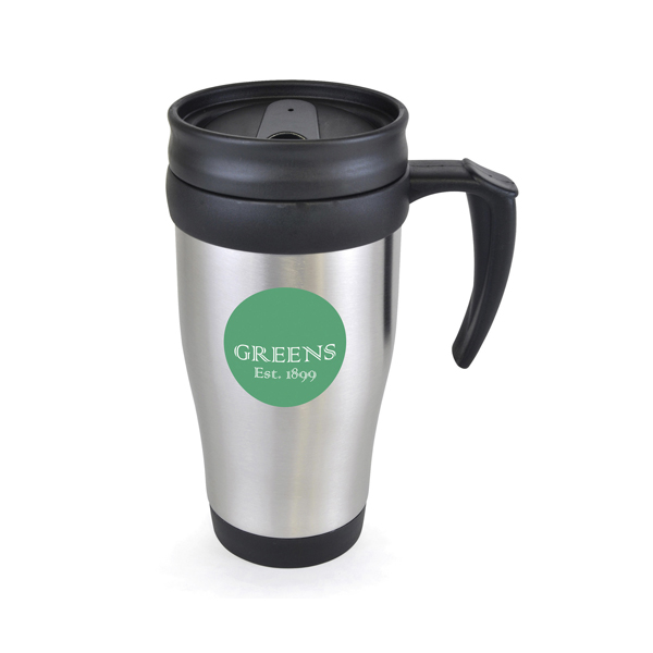 Printed Stainless Steel Double Walled Travel Mugs